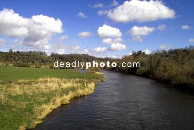 Newgrange, the view of the boyne, from the visitors centre bridge
