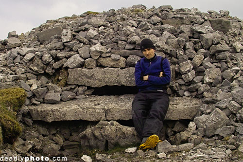 Dave Walsh, Megalith Hunter, pictured beside his latest 'kill'