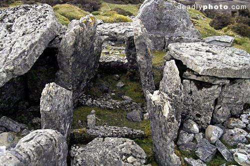 Carrowkeel: The remains of Cairn E - a long barrow