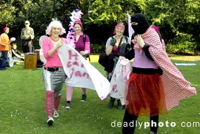 Pink protestors!