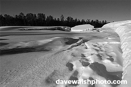 Ice on the river, Inari, Finland