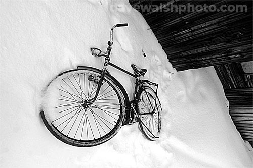 Rider Lost: discarded bicycle, Nellim, Finland