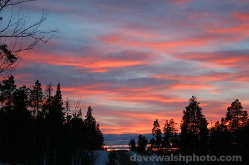 Arctic Sunset, Inari, Lapland, Finland