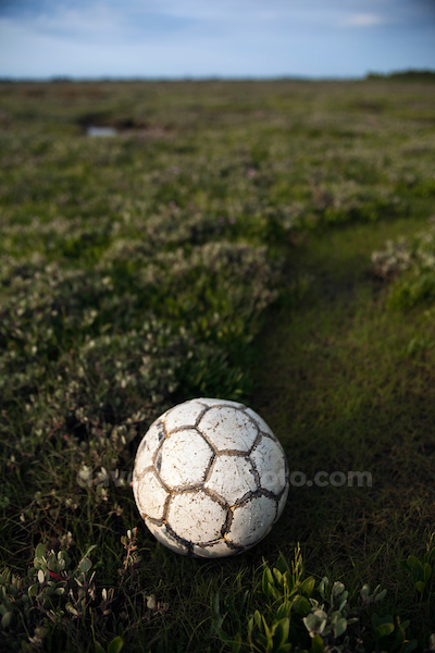 Found football, Bull Island, Dublin
