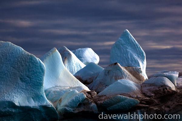 Iceberg: ice formations on an iceberg, Kane Basin, Northwest Greenland.