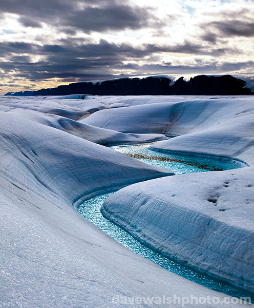 Arctic Blue Melt River, Petermann Glacier, Climate Change