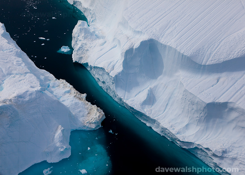 Two icebergs, Sermilik Fjord, Greenland