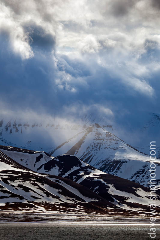Dramatic clouds over the mountains, Svalbard