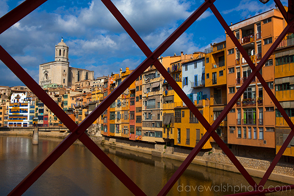 Colourful buildings in Girona