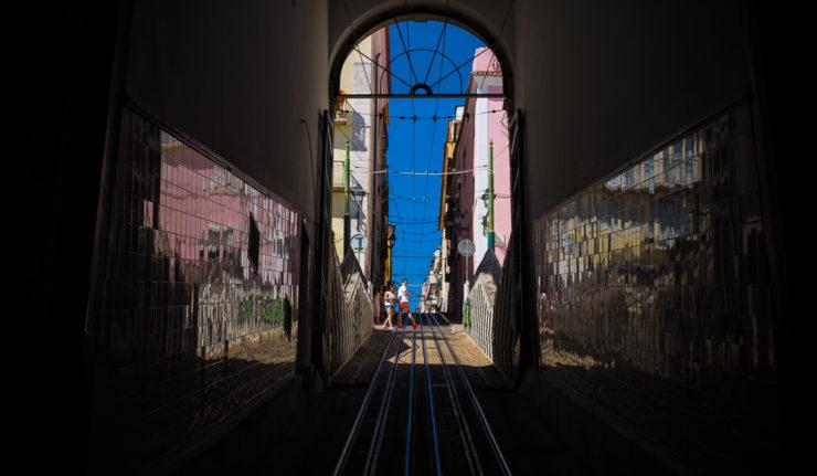 Ascensor da Bica, funicular, Lisbon