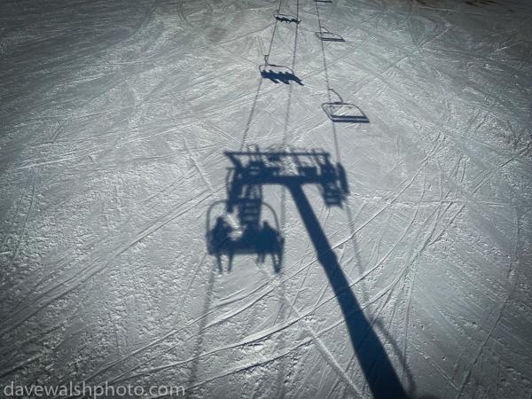 Ski lift shadow, La Mongie,