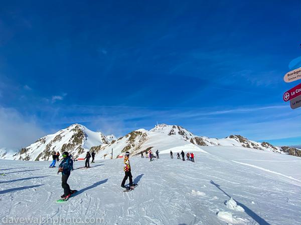 Skiing below Le Pic du Midi de Bigorre