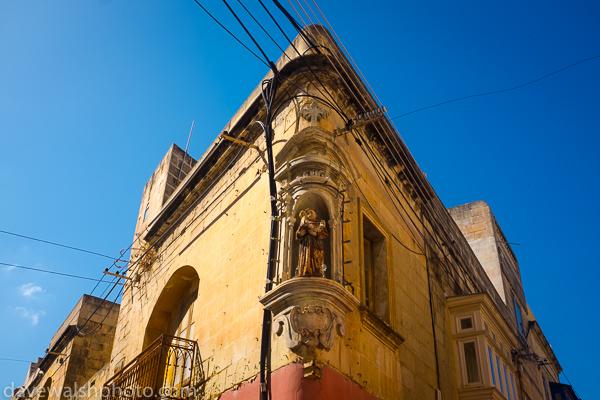 Religious statue, Sliema, Malta