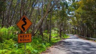 Bends for the next 60km - Kosciuszko - Australia