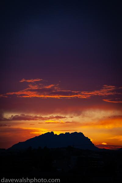 Sunset at Montserrat mountain, Catalonia, Spain