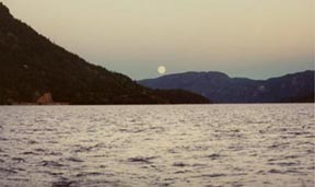 Moonrise on Lake Seljord