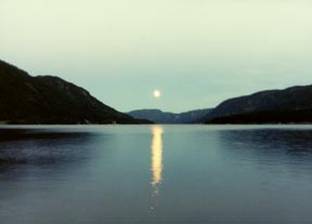 Moonrise on Lake Seljord 2