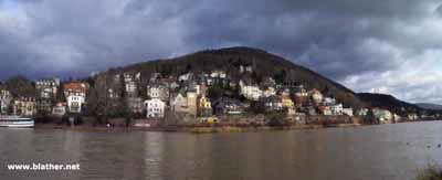 The river Neckar Heidelberg, Germany  (click for larger)