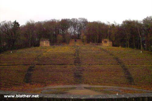 View of the seating in the Nazi Thingstätte at Heiligenberg, in the woods above Heidelberg, Germany
