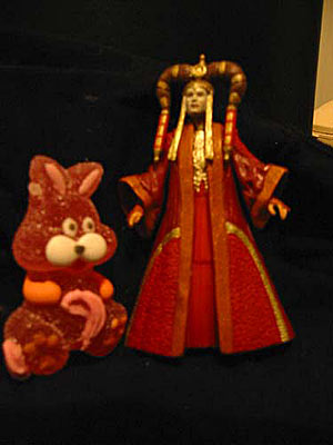 Easter Bunny meets Queen Amidala