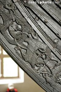 Detail from viking ship, Viking Museum, Oslo