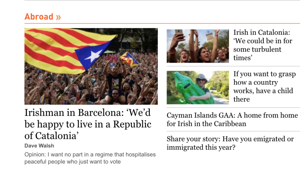 Irishman in Barcelona: 'We'd be happy to live in a Republic of Catalonia'