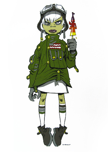 Jamie Hewlett M16 Assault Limited Edition Lolly Print